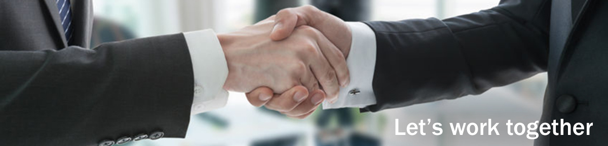 Partner with us handshake